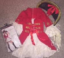 LEG AVENUE  Women's CAPTAIN BOOTY Sexy PIRATE COSTUME w/ Hat sz S