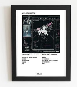 Grimes Poster Miss Anthropocene Album Art Polaroid Style Pop Music Poster A3  A4