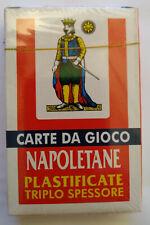 MAZZO CARTE NAPOLETANE plastificate CARDS Scopa Spielkarten Briscola Scopakarten