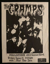 THE CRAMPS Hollywood Palladium Vintage June 15, 1989 Concert Flyer 8.5 x 11 RARE