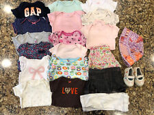 21 Pc Baby Girls Clothes Lot Summer Sz 3-6, 6-9, 9-12 Months Child of Mine  GAP