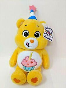 "BIRTHDAY BEAR Care Bears Plush 9"" Inch Cupcake Party Hat 2021 Stuffed Animal"
