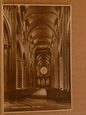 Unposted Postcard Durham Cathedral, The Nave east Real photographic
