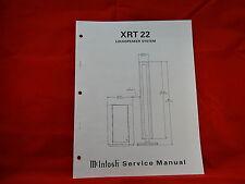 McIntosh XRT 22 Loudspeaker System Service Manual