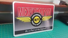 "Mickey Thompson Tires & Wheels Aluminum sign full color 12"" x 18"""