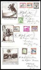 WESTERN SAMOA 1935 COASTAL SCENE SET OF THREE PICTORIAL COVERS (VF)