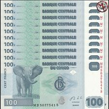 Congo - 100 Francs 2013 - Pick- 98 - Set 10 PCS - UNC