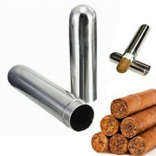 Stainless Steel Cigar Tube Case Cigarettes Tobacco Holder Smoke Container