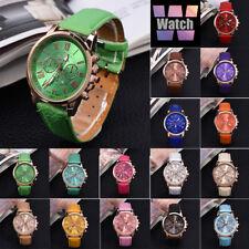 Fashion Luxury Girls Women Watch Leather Band Quartz Ladies Wrist Watch Cheap GL