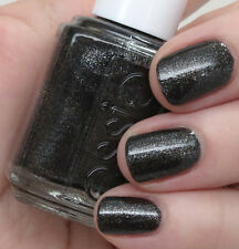 NEW Essie nail polish lacquer in TRIBAL TEXT-STYLES Black gold and crushed onyx