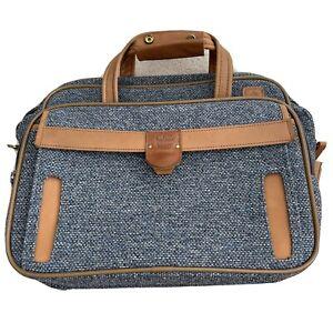 Vintage Hartmann Tweed Shoulder Bag Carry On Luggage Leather Trim *MISSING STRAP