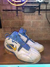 Nike Shox Elite Shoes White Maize Blue Men's Size 12 309267-171 Denver Nuggets