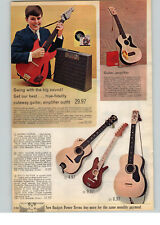1966 PAPER AD 4 PG Toy Play Electric Guitar Organ Liverpool Drums