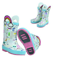 Waterproof Rubber Rain Boots  Kids Boy & Girl Toddler Shoes With Handles Fashion