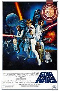 A NEW HOPE STAR WARS EP 4 IV ORIGINAL CINEMA MOVIE FILM PRINT PREMIUM POSTER