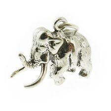 925 Sterling Silver Wooly Mamoth Charm Made in USA