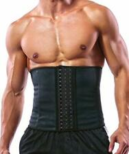 Men's Latex Fitness Waist Trainer Corsets w/ Steel Bone for Back Support (M)