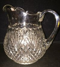 American Brilliant Cut Crystal Pitcher - Diamonds & Fan Pattern
