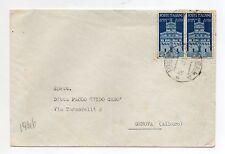 STORIA POSTALE 1947 REPUBBLICA AVV. REP LIRE 2+COPPIA SU BUSTA BIELLA 7/1