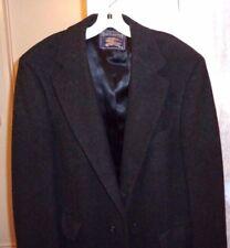 Vintage Burberry Men's  Black Lambs Wool Heavy Winter Dress Coat  large