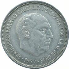 COIN / SPAIN / 5 PESETAS 1957    #WT17304