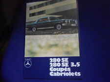 Mercedes Prospekt 280 SE Coupe cabrio 3.5 W 111 Flachkühler folder color