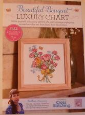 Hermoso ramo cross stitch chart Vintage Posy Floral Rosas (B1)