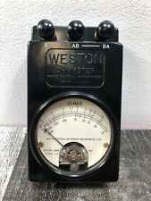 Antique Vintage Weston Electrical Instruments Ohmmeter Model 689 Type 1F