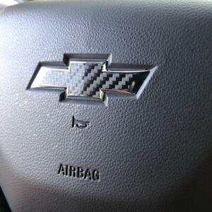 Carbon Fiber Steering Wheel Bowtie Overlay Chevy Malibu 2015-2020 Precut Decal