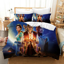 Aladdin 3D Design Bedding Set 3PC Of Duvet Cover Pillowcase Double King