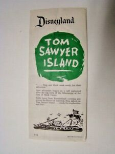 1957 Disneyland Tom Sawyer Island Frontierland Brochure & Map Walt Disney Prod.