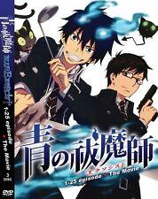 DVD Blue Exorcist (Episode 1 - 25 End + Movie ) Anime Boxset ENGLISH Version