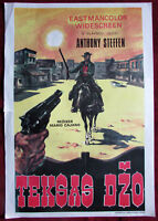 1965 Original Movie Poster Lone Angry Man Caiano Anthony Steffen Western YU