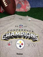 New Pittsburgh Steelers 2010 Conference Champions t-Shirt shirt Medium M c11