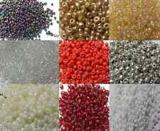 30g - 45g glass seed beads-Silver-Lined, assorted size-choice of colours