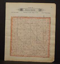 Nebraska Saunders County Map Rock Creek Township  1907 Double Side Q7#65