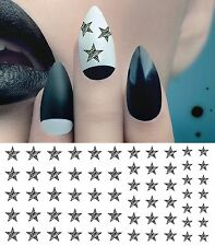 Zebra Star Nail Art Waterslide Decals - Salon Quality!