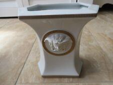 Versace Rosenthal Gargona Medusa White Gold Trim Vase