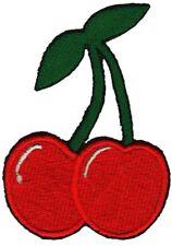 ab51 Kirsche Frucht Rockabilly Aufnäher Bügelbild Applikation Patch 5,9 x 8,5 cm