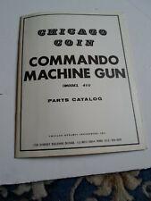 Chicago Coin commando Machine gun  Manual - Used Original