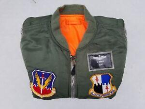 US Air Force Lt Colonel 52nd Tac. Fighter Wing MA-1 Größe XL Mfg I.Spiewak