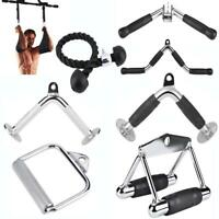 Home Gym Cable Attachment Machine Exercise Triceps Rope D Handle V Pull Up Bar