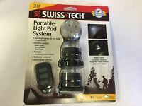 Swiss+Tech Portable LED Light Pod System, 3 Light Pack with Remote LPCSBK-3