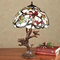 Sitting Pretty Stained Glass Table Lamp Off White Each with CFL Bulb