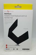 New Kanex Multisync Foldable Travel Keyboard with Full Number Pad *BLUETOOTH*IOS