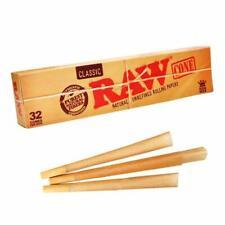 Raw Kingsize or 1  1/4 Cones - Box of 32 Cones - Premium Genuine RAW - Free Del