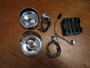DELUX KIDILLAC PEDAL CAR ELECTRIC HEADLIGHT CONVERSION/REPLACEMENT KIT