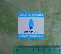 ADESIVO - STICKER - AUTOCOLLANT - GAS METANO - ANNI '80 - VINTAGE - 5x5 cm