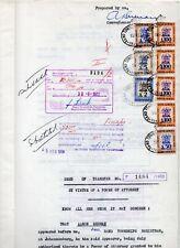 1958 South Africa Deed of Transfer. A Superb & Very Rare Revenue Document.
