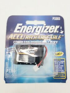 Energizer Cordless Battery Replacement P-3303 P3303 ACCU Rechargeable